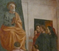 Detail from a fresco in the Brancacci Chapel