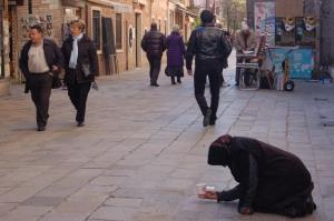 Venice street beggar