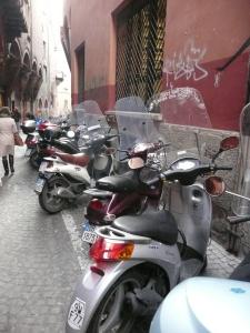 Bologna Italy street scene